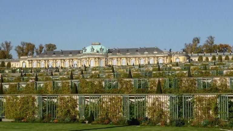 Auch Schloss Sanssouci in Potsdam  gehört zu den Zielen der Reise
