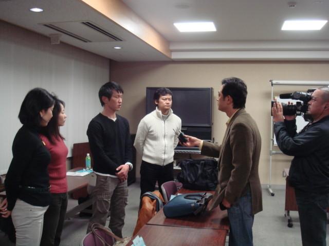 中国TVの取材風景(第5期・中国から見た日本)