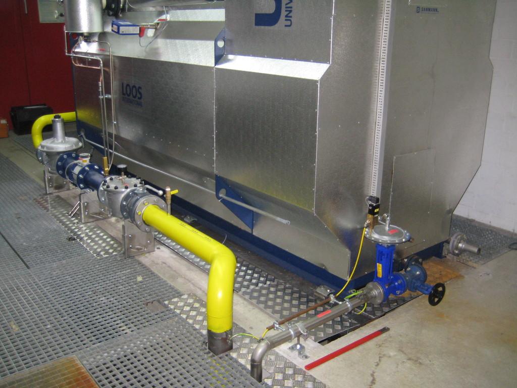 Gasleitung / Automatische Abschlammung
