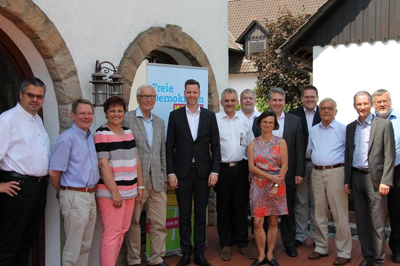 K. Abruszat, Chr. Dürr MdL und liberale Kommunalpolitiker aus Flecken Lemförde