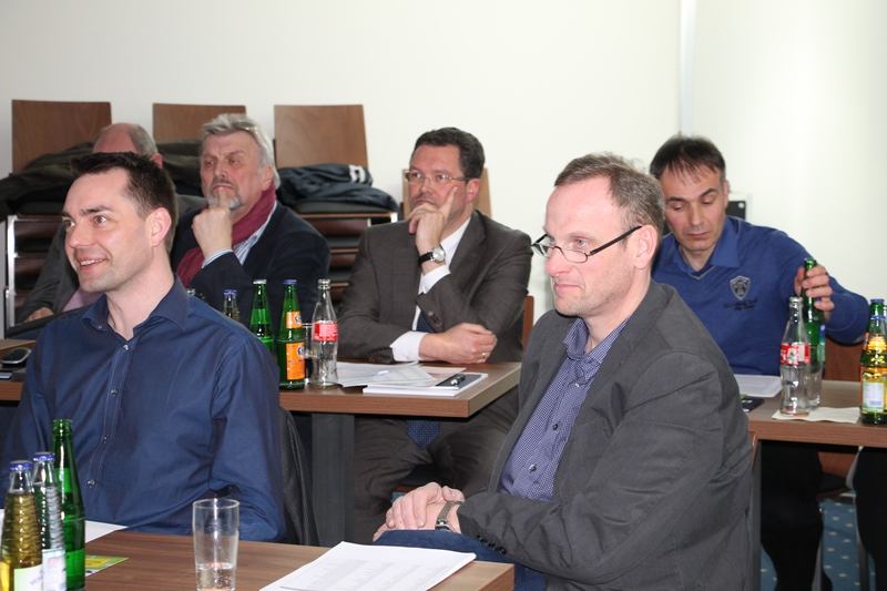 v.l.n.r.: M. Weis, Ratsmitglied Alpen, Th. Hommen, FDP Fraktionsvorsitzender Alpen