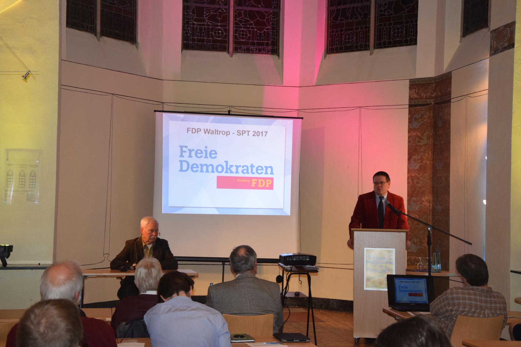 FDP Waltrop, Ordentlicher Stadtparteitag 23.01.2017