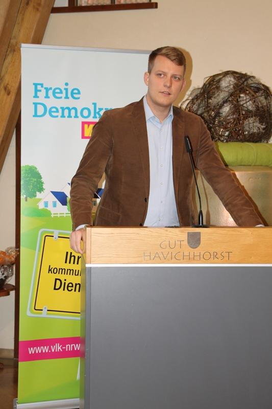 Henning Höne MdL, kommunalpolitischer Sprecher der FDP Landtagsfraktion