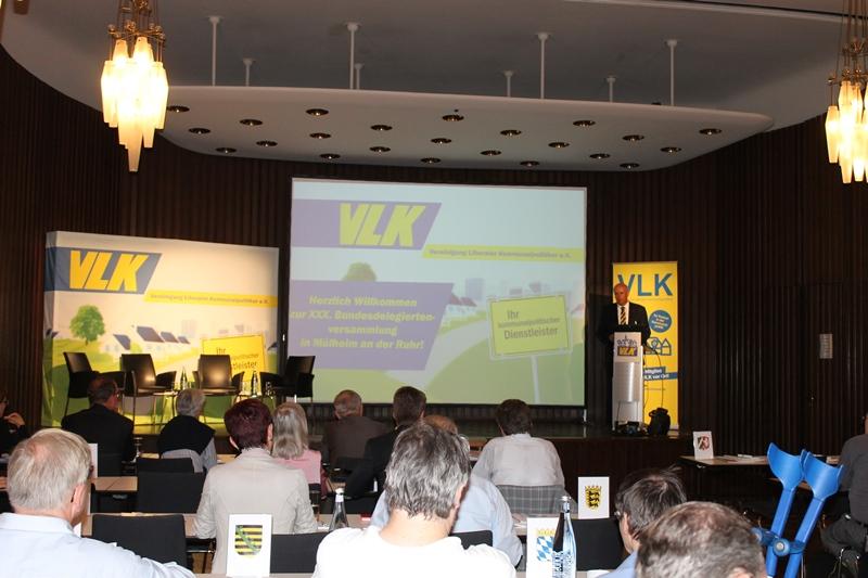 Begrüßung durch W. Dette, Vorsitzender der Bundes VLK