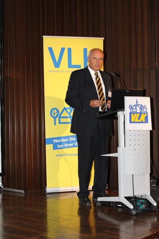 Wolfram Dette, Vorsitzender der Bundes VLK