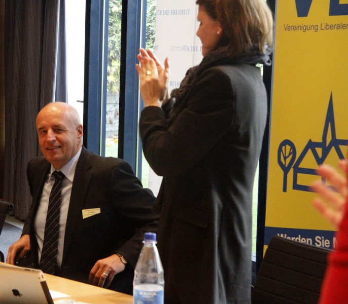 W. Dette und J. Pirscher, Vorsitzende der Bundes VLK