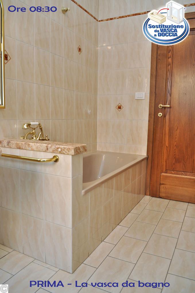 Trasformazione da vasca in doccia a grosseto gi pronto - Da doccia a vasca da bagno ...