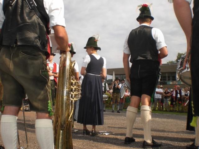 Die Reider Musi (Niklasreuther Blasmuik) steht in Schliersee schon bereit