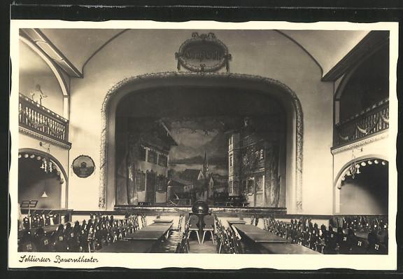 Bauerntheater Innenraum  um 1920