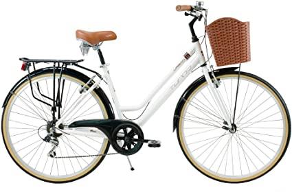 --#Bicicleta Hibrida Turbo Blanca Dama Urban 1.1 R700c 7 vel Aluminio $