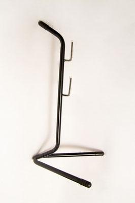 --+Parador Pata de gallo, acero pintado color negro $350 MXN
