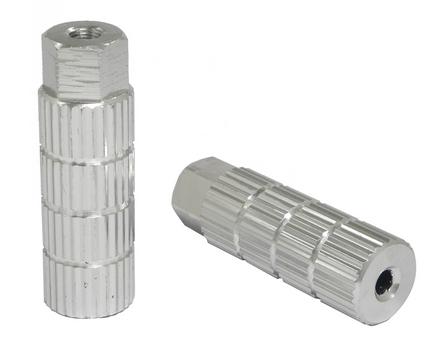 +++Diablos Traseros Aluminio Plata 3/8 LUSP-05B 28X85 FORZA $110 MXN DIAFOR0015