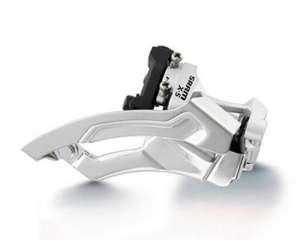 --Desviador Central  X-5 3X9 Abraz. 31.8/34.9 Low Tiron Doble SRAM $ 780 MXN DESSRA0005