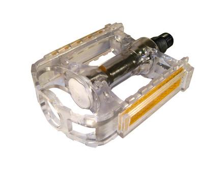 +++Pedal MTB 9/16 Plast.Transp.Blanco HF-878 C/Reflej.en Cajita FORZA $95  MXN PEDFOR0016