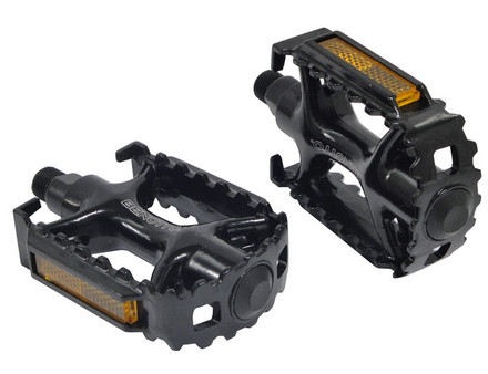 +++Pedal MTB 9/16 Aluminio Negro NWL-979 C/Reflej.en Cajita BENOTTO $175 MXN PEDBTT0940