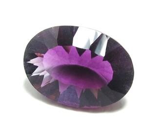Fluorit violett, Ovaler Schliff
