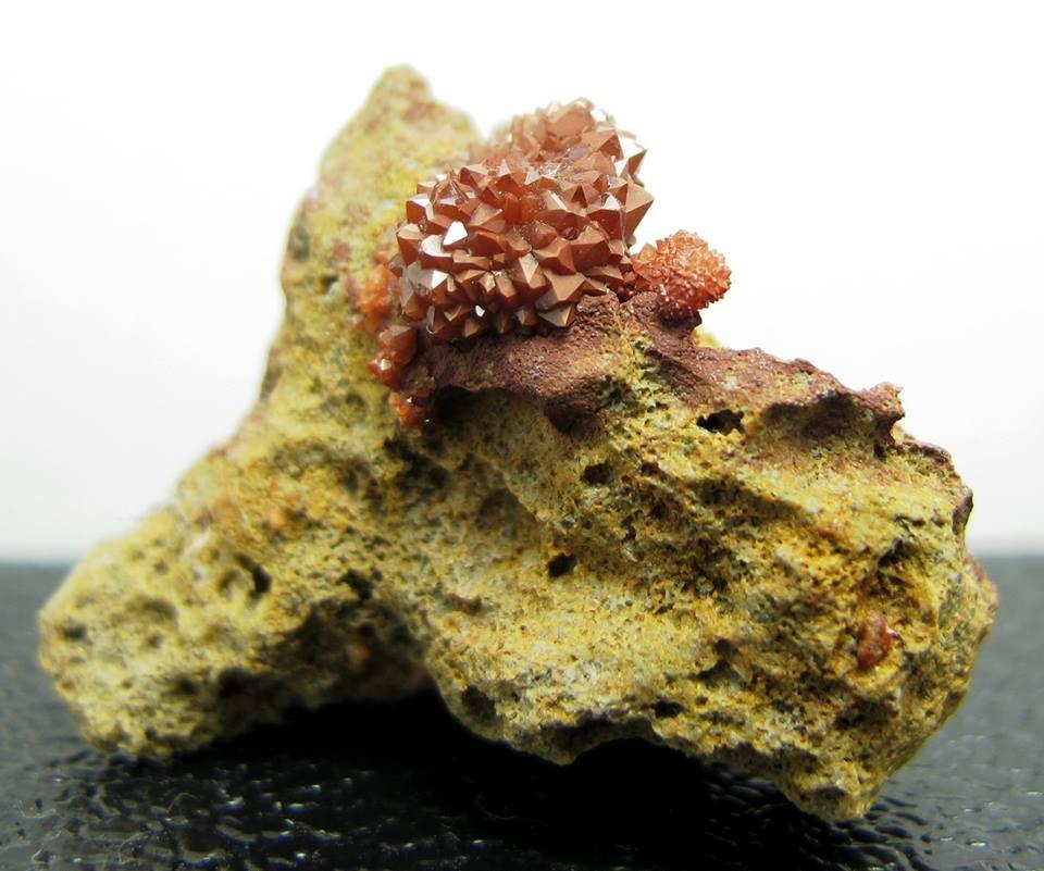 Roter Quarzigel - Red Quartz Hedgehog - Montroy Valencia Spanien - BB ca. 4cm