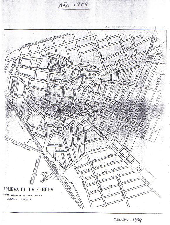 Plano de Villanueva de la Serena año 1969