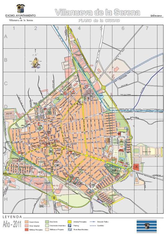 Plano de Villanueva de la Serena año 2011