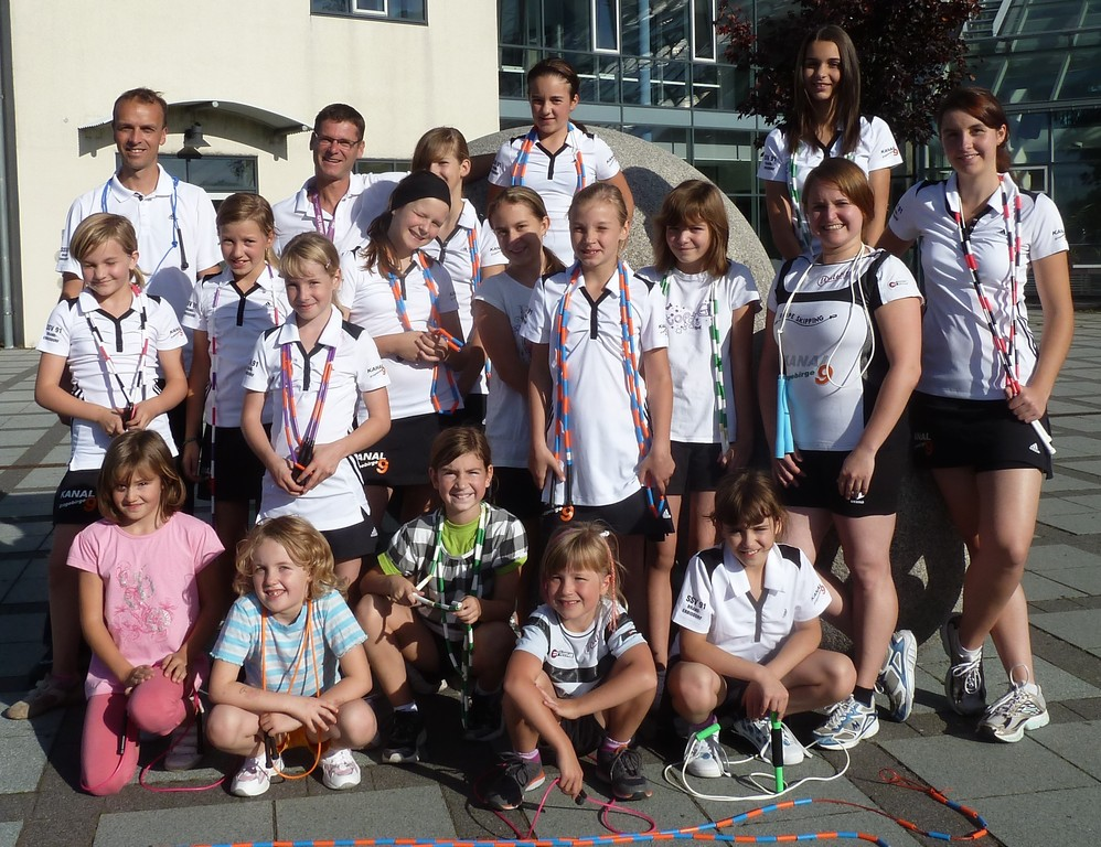 2011 - Gruppenbild am B.-v.-Cotta-Gymnasium
