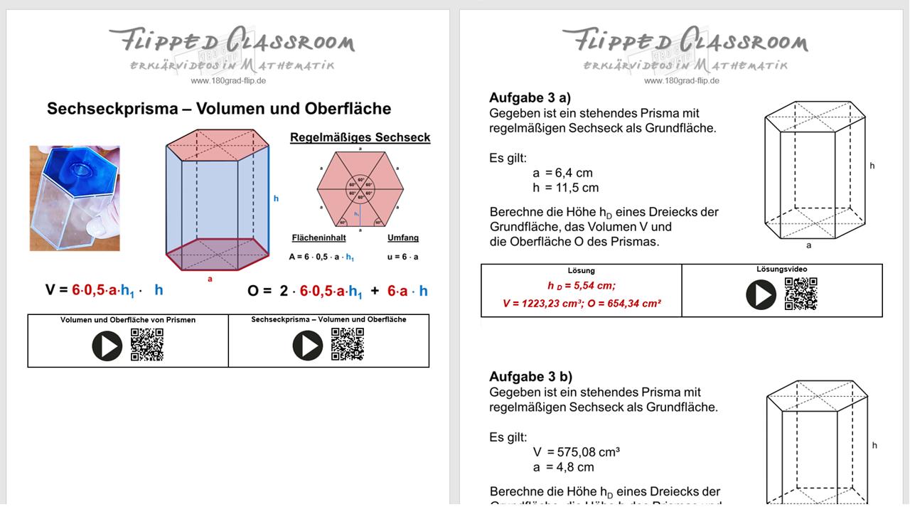 Sechseckprisma meets Pythagoras