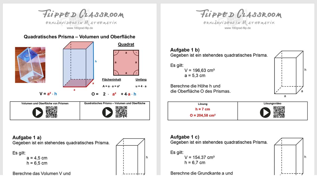 Quadratisches Prisma meets Pythagoras