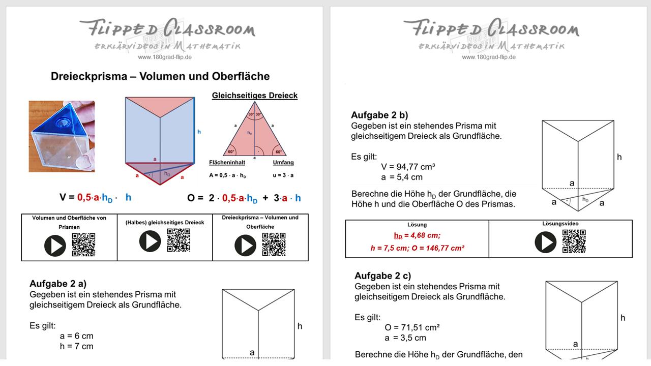 Dreieckprisma meets Pythagoras