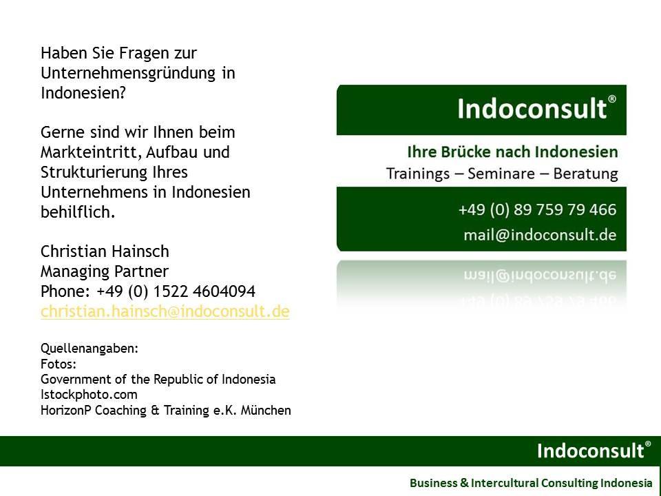 Unsere Beratung für Ihre Geschäfte in Indonesien