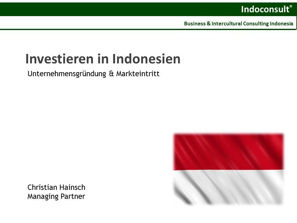 Unternehmensgründung und Markteinstieg in Indonesien