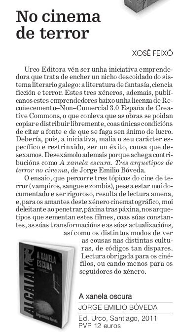 recensión na Opinión da Coruña