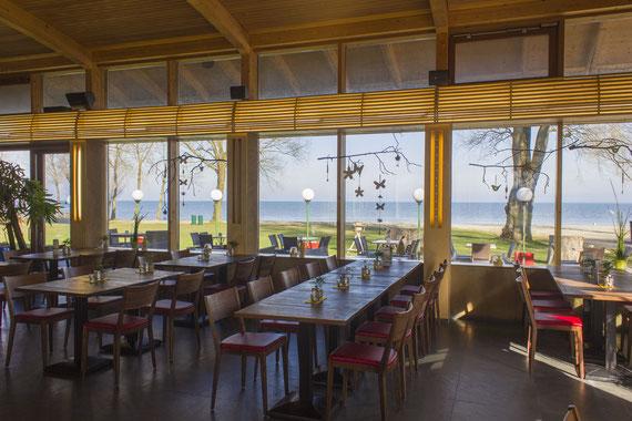 Innenansicht Frühling - Seerestaurant Glashaus in Höchst, Rheindelta, Vorarlberg