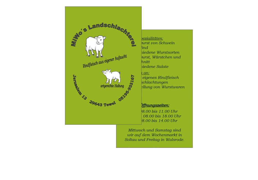 Visitenkarte MiWo's Landschlachterei