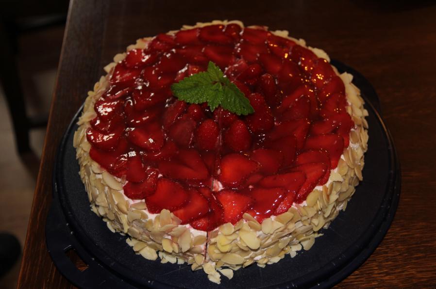 fraisier aux amandes