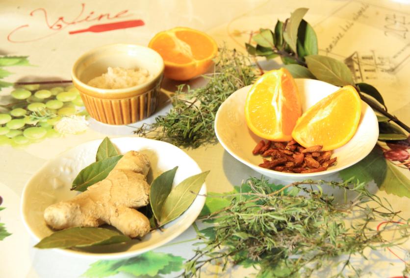préparation pour oranges confites