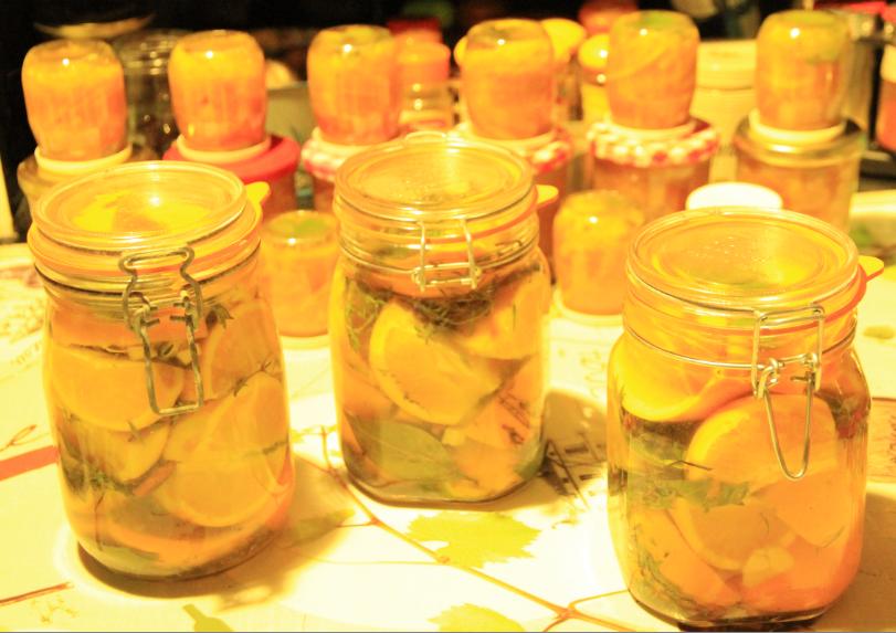 oranges confites au sel