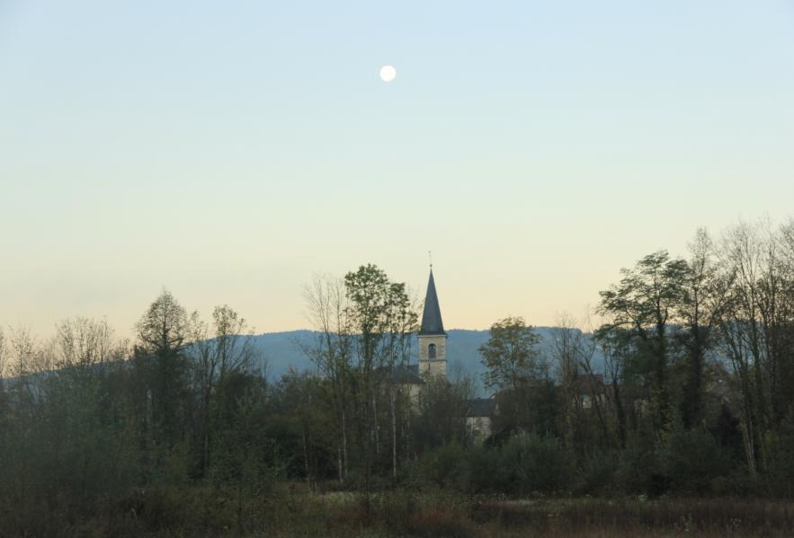 lune église