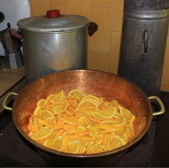 oranges bio en cuisson