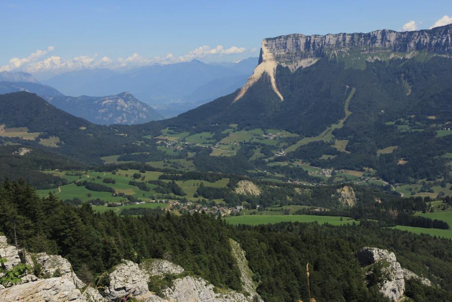 Le mont Granier, un peu écorché