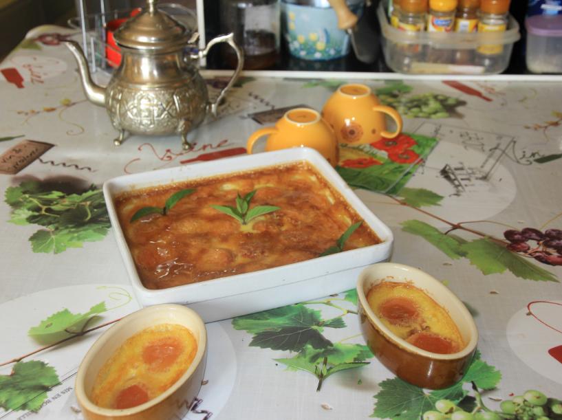 abricots transformés en flan