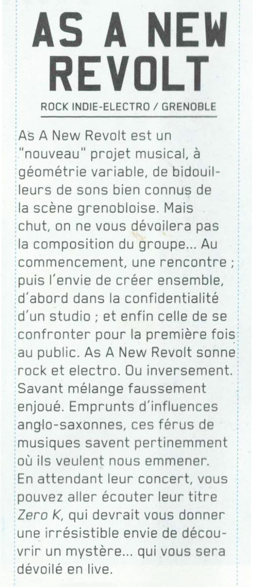 Régie2c - 1er tr. 2014