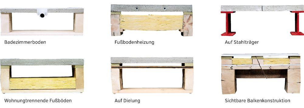 Anwendungsbeispiele für die LEWIS®-Schwalbenschwanzplatten