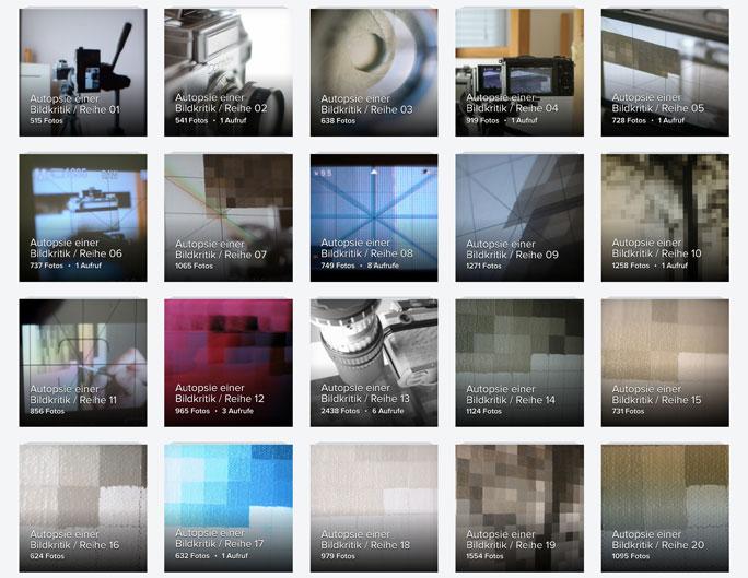 Screenshot von Flickr-Alben
