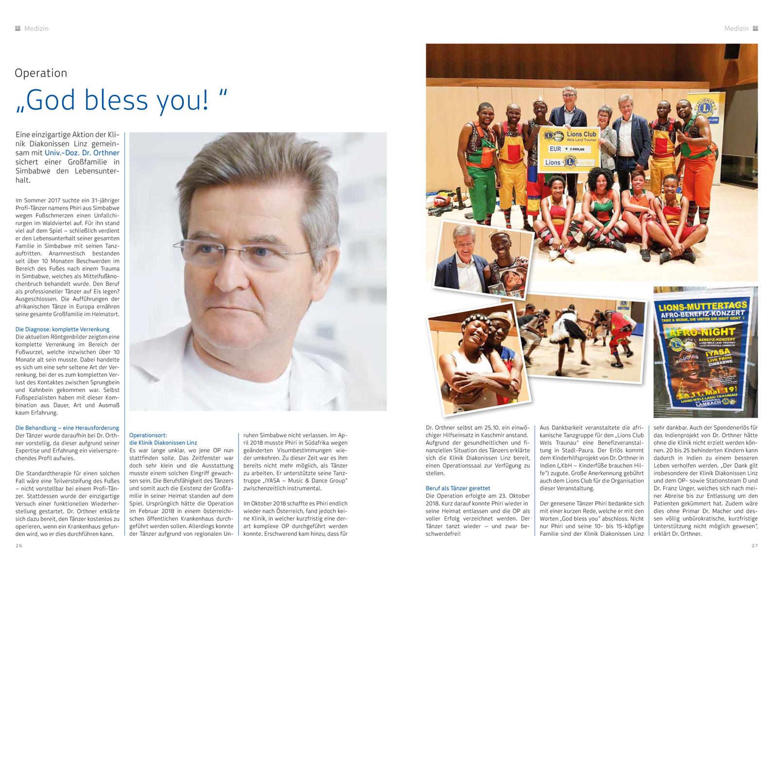 Klinikmagazin-Lions-Wels-Land-Traunau 2019