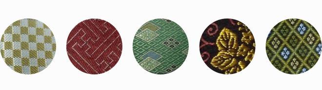 畳縁の見本:東京都葛飾区東堀切の畳店、タカハシ