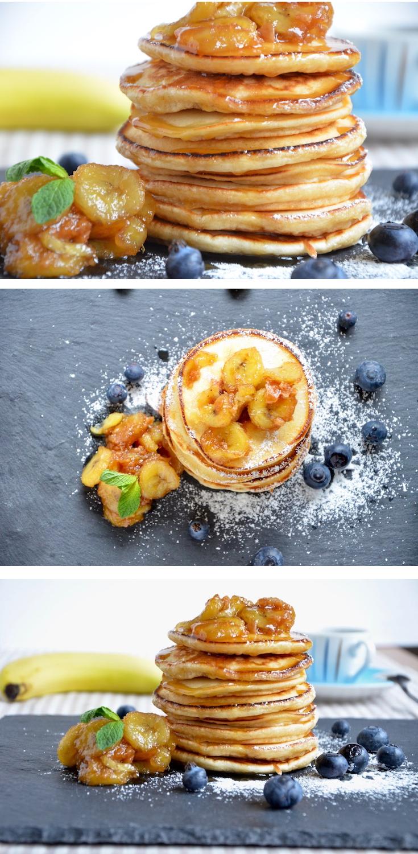 Fluffige American Pancakes, ein einfaches und leckeres Rezept.