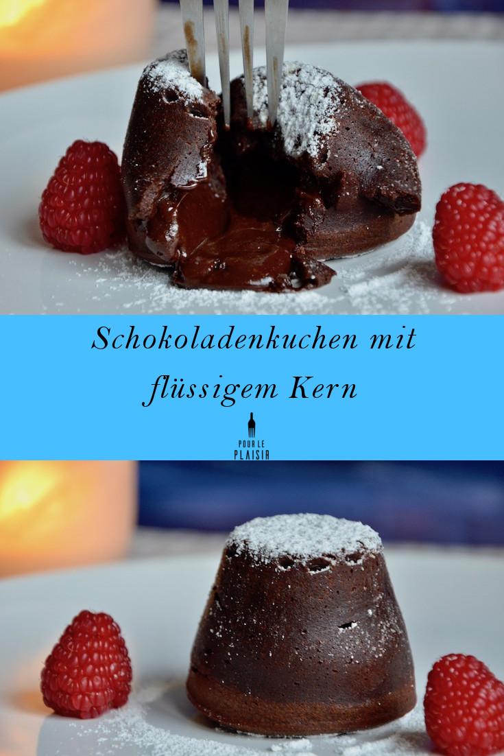 Schokoladenkuchen mit flüssigem Kern, ein super Rezept