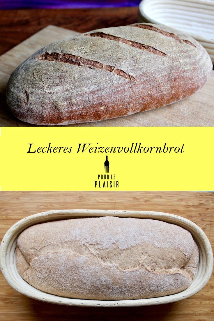 Leckeres Brot mit Weizenvollkornmehl, zu Hause backen wie beim Bäcker