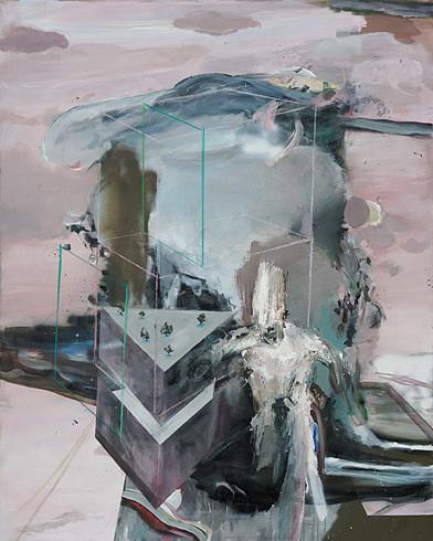 Martin Mohr  Der Alleswoller  Acryl, Lack und Öl auf Baumwolle   150 x 120 cm