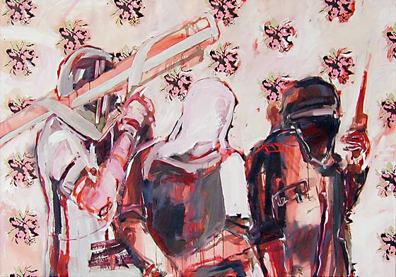 Martin Mohr  20-C+M+B-04  Acryl auf Baumwolle   140 x 200 cm