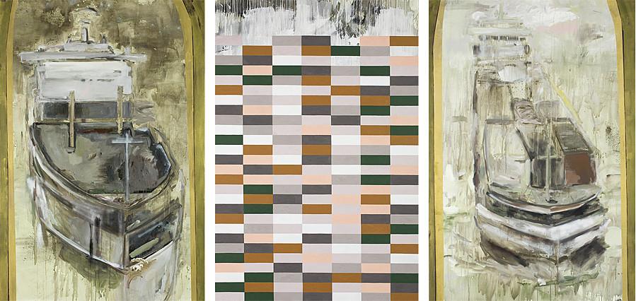 Martin Mohr  Arche Noah   Triptychon  Acryl, Lack und Öl auf Baumwolle   je 250 x 170 cm
